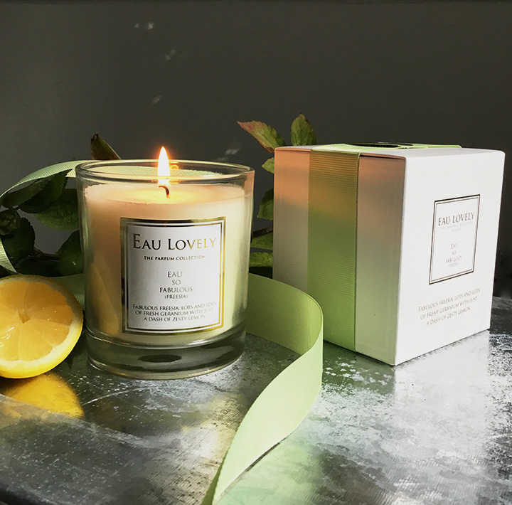 natural wax candle freesia