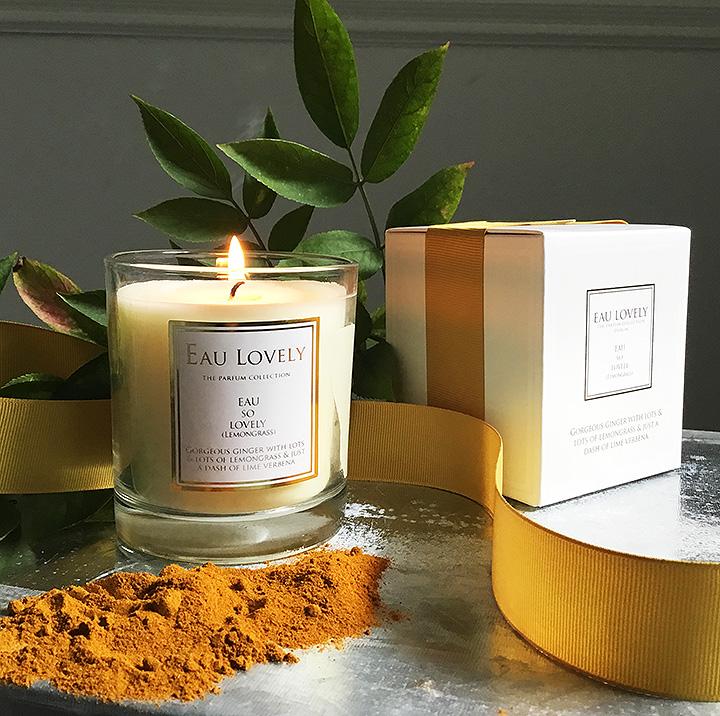 Lovely lemongrass eau lovely candle.